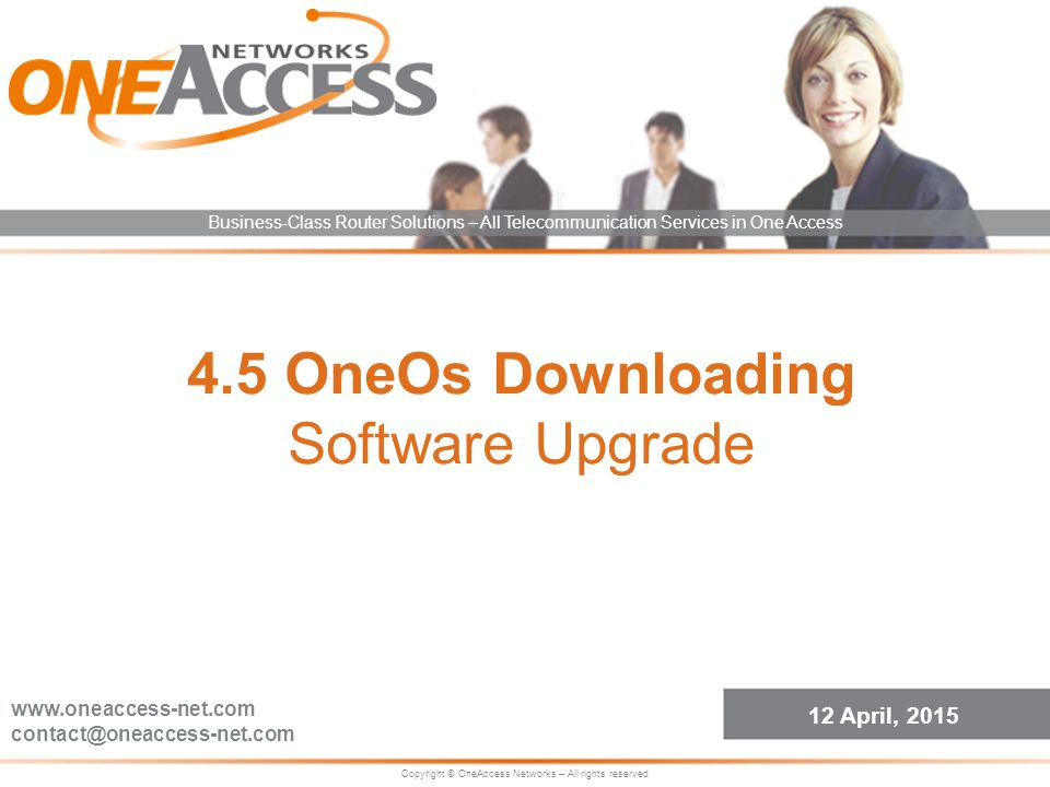 4.5 OneOs Downloading Software Upgrade