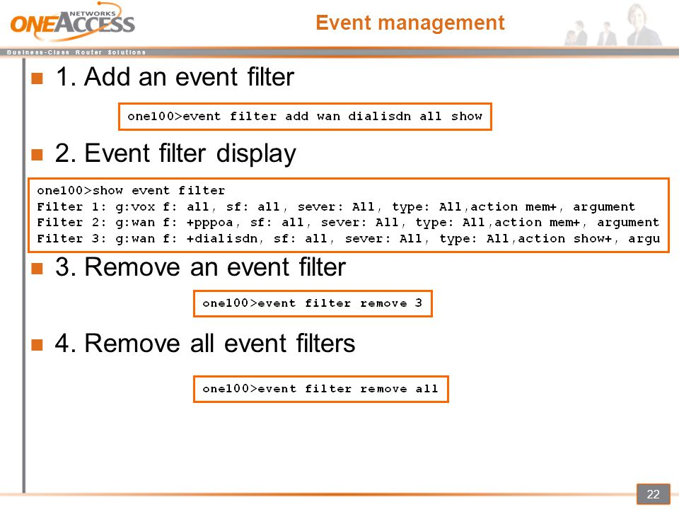 4. Remove all event filters