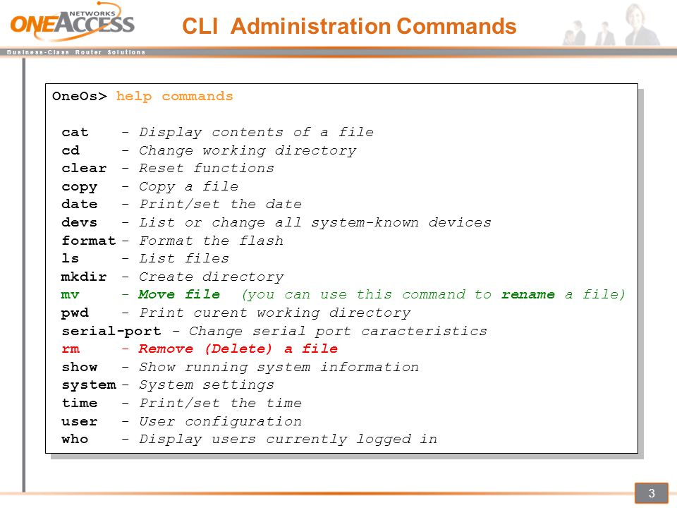 CLI Administration Commands