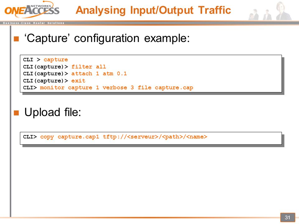 Analysing Input/Output Traffic