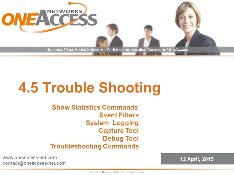 4.5 Trouble Shooting Show Statistics Commands Event Filters