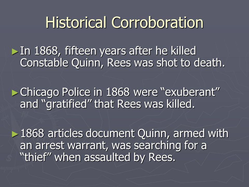 Historical Corroboration