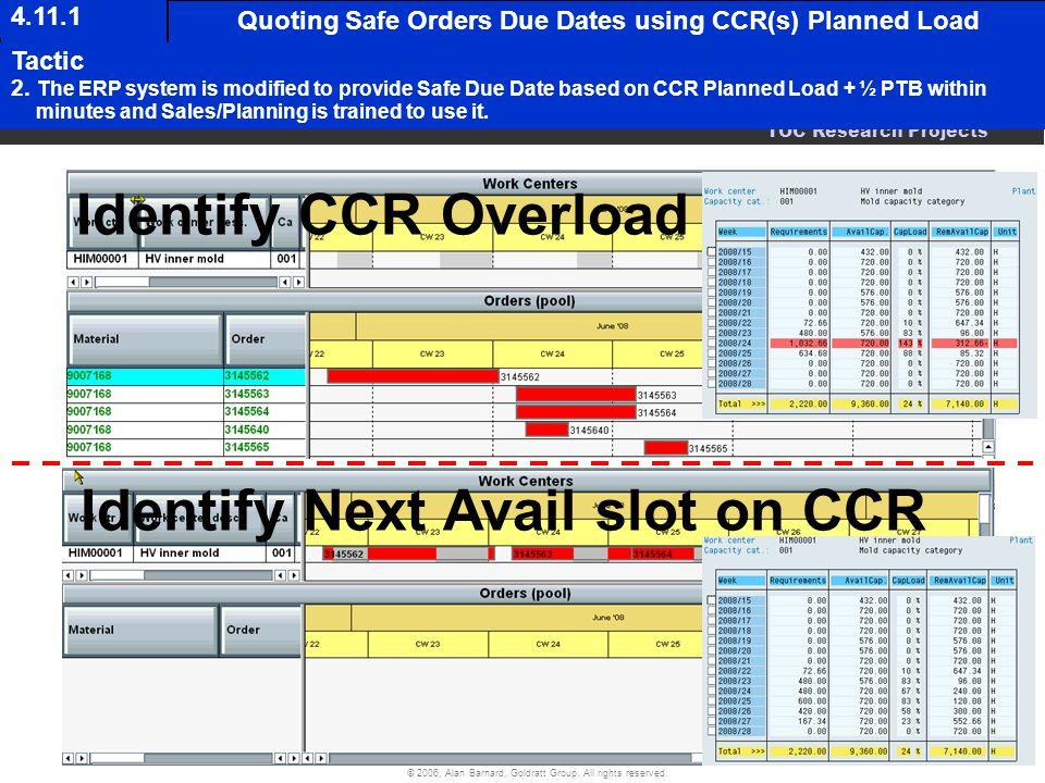 Identify Next Avail slot on CCR