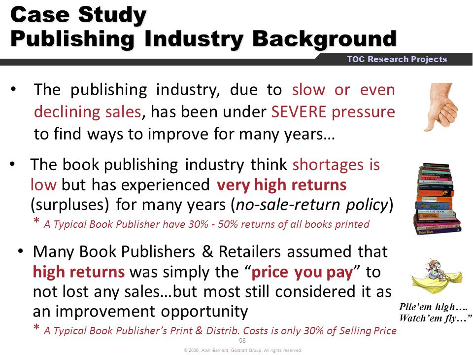 Case Study Publishing Industry Background