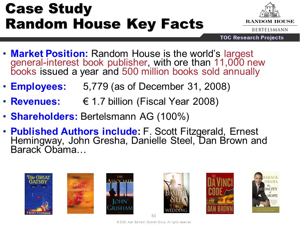 Case Study Random House Key Facts