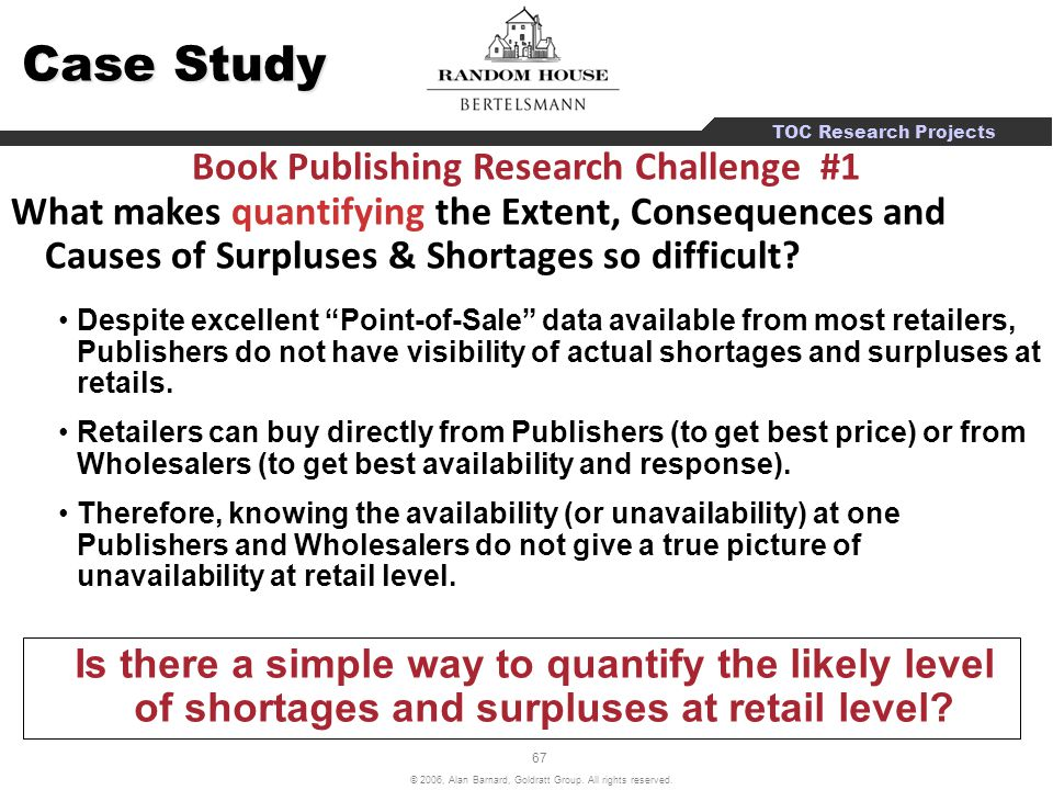Book Publishing Research Challenge #1