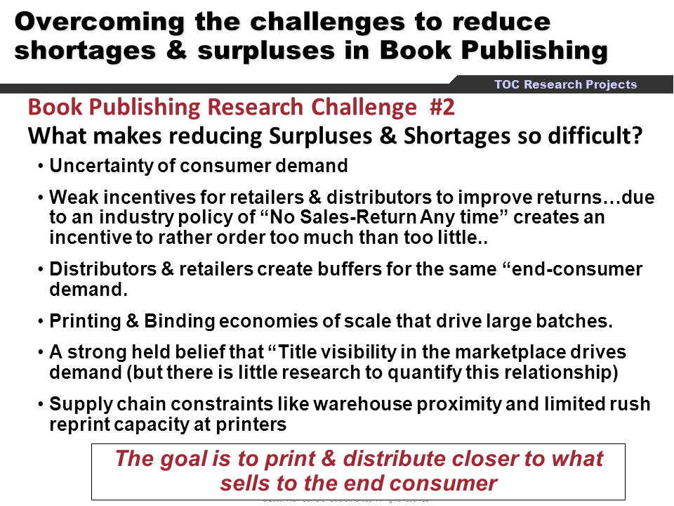 Book Publishing Research Challenge #2