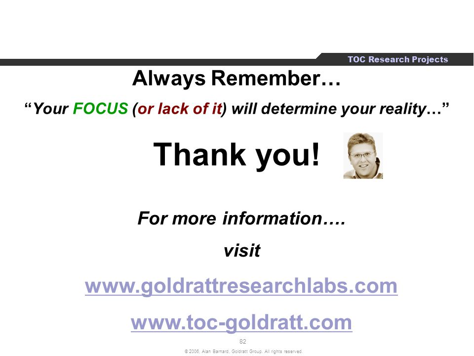 Your FOCUS (or lack of it) will determine your reality…