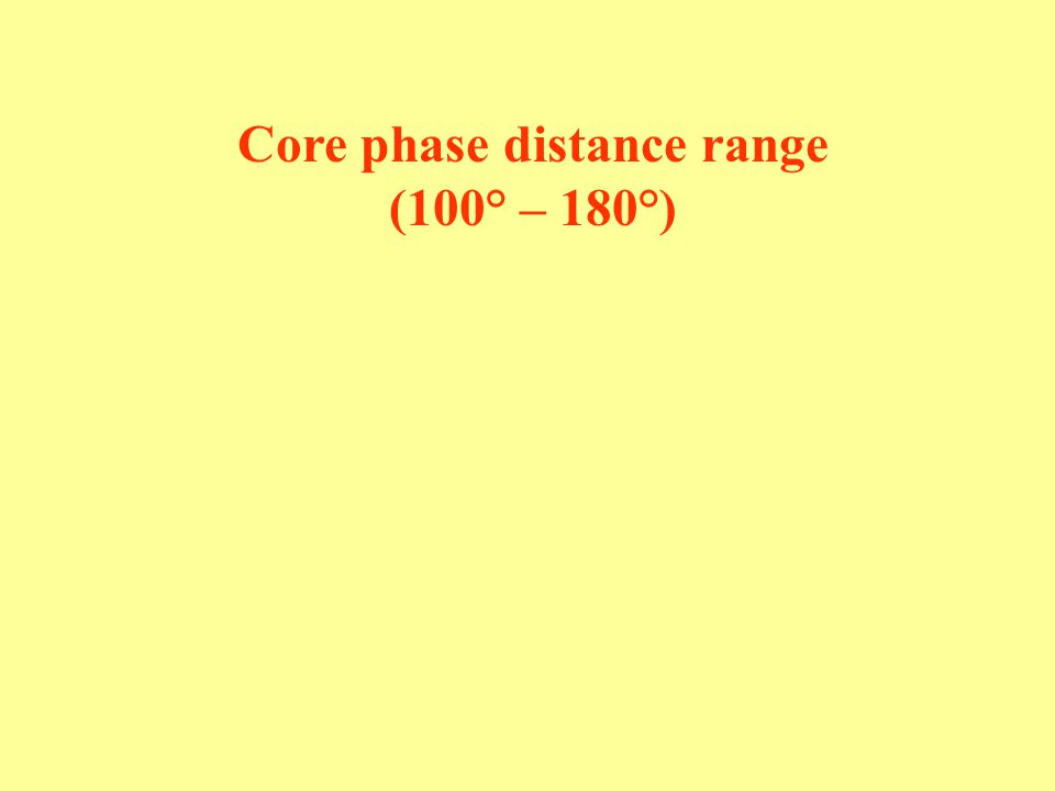 Core phase distance range