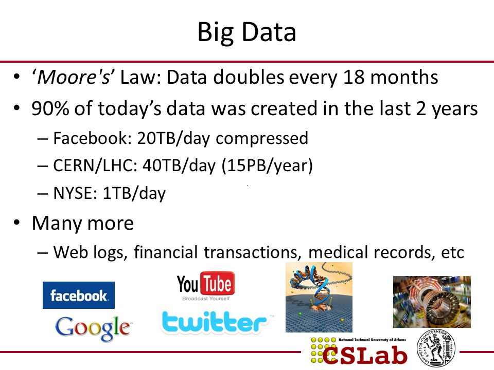 Big Data 'Moore s' Law: Data doubles every 18 months