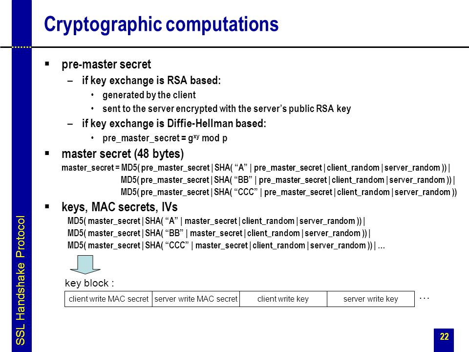 Cryptographic computations