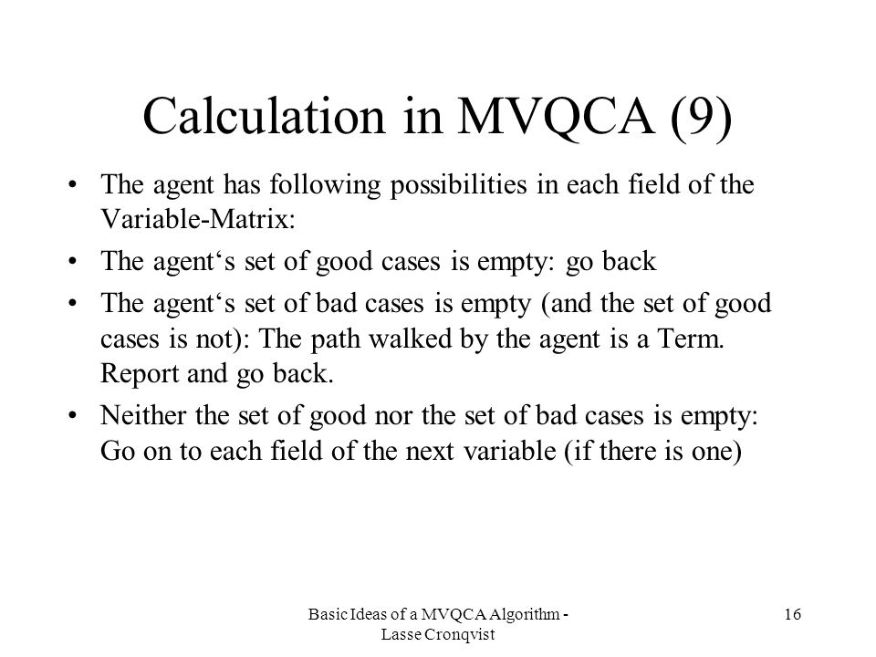 Calculation in MVQCA (9)