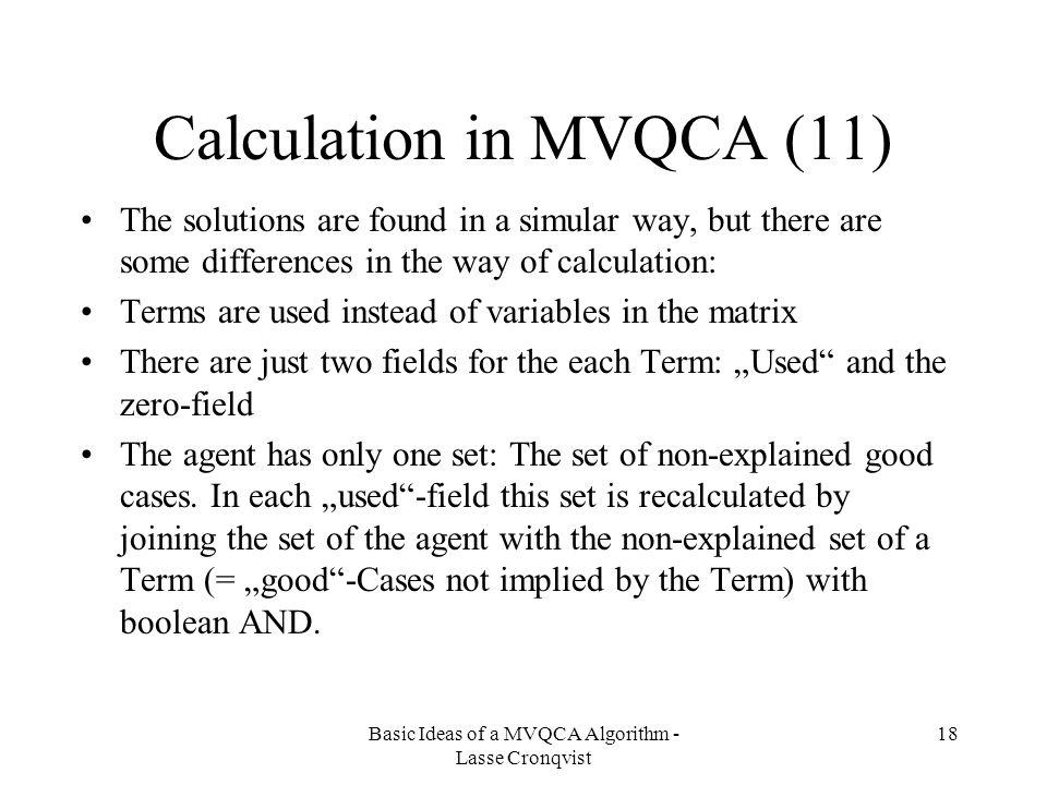 Calculation in MVQCA (11)