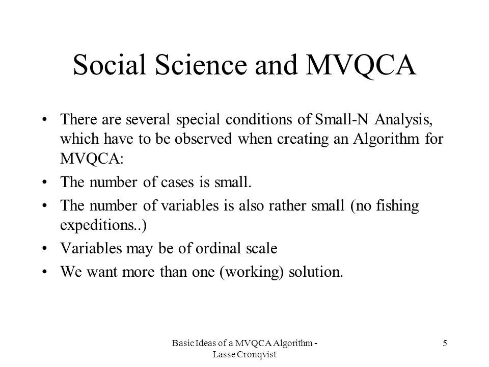 Social Science and MVQCA