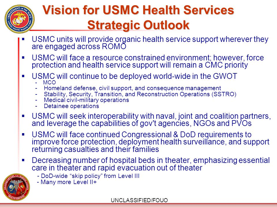 Vision for USMC Health Services Strategic Outlook