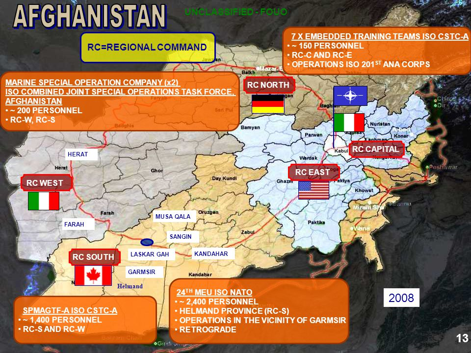 AFGHANISTAN 2008 13 UNCLASSIFIED - FOUO