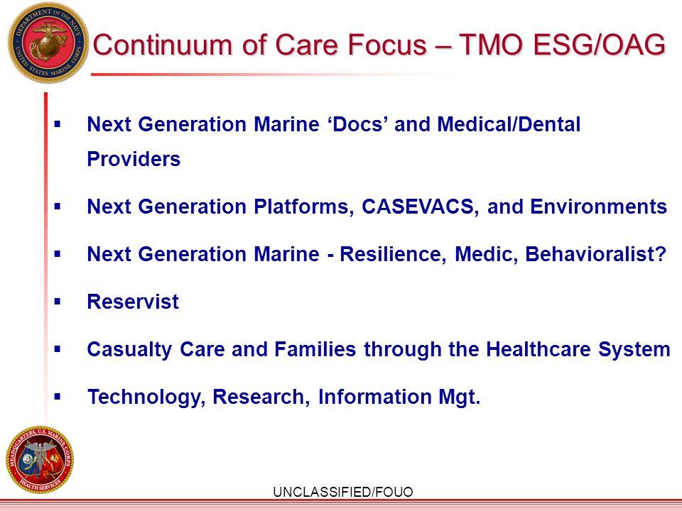 Continuum of Care Focus – TMO ESG/OAG