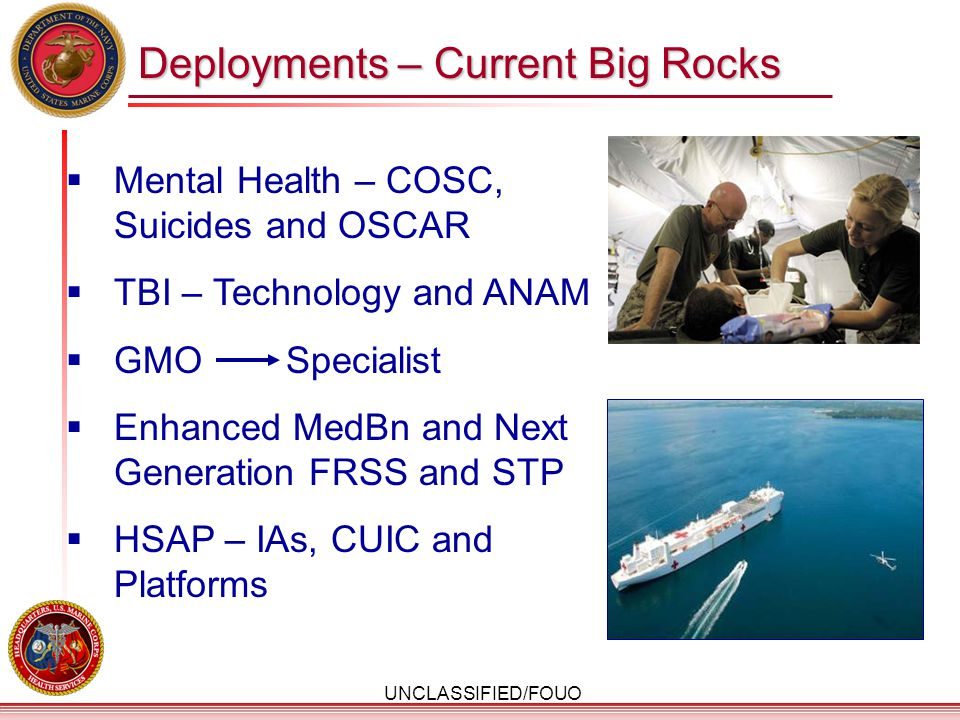 Deployments – Current Big Rocks