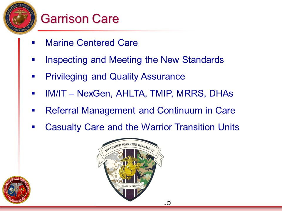 Garrison Care Marine Centered Care