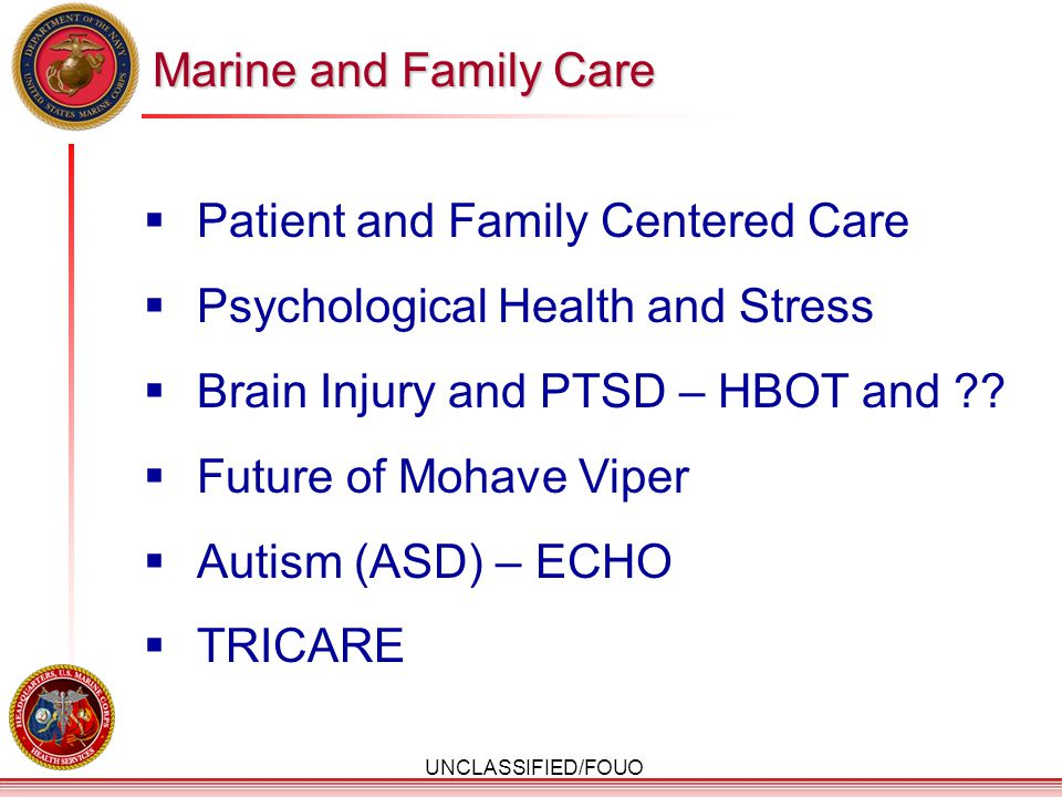 Patient and Family Centered Care Psychological Health and Stress