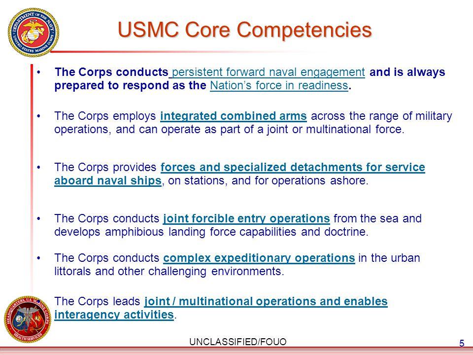 USMC Core Competencies