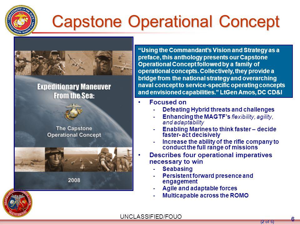Capstone Operational Concept