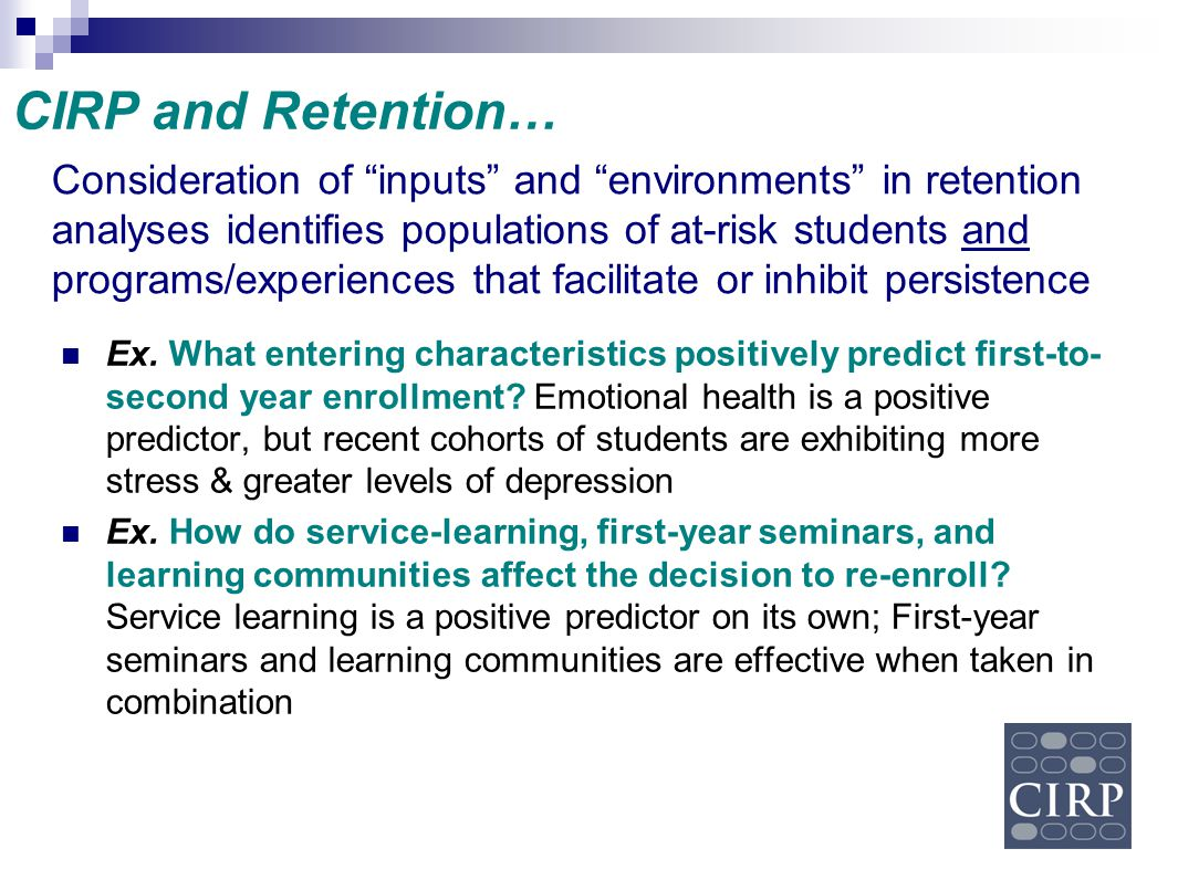 CIRP and Retention…