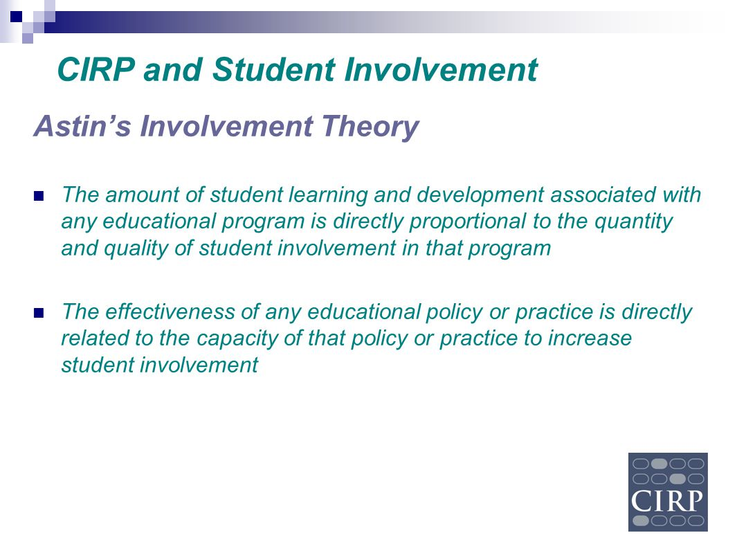 CIRP and Student Involvement