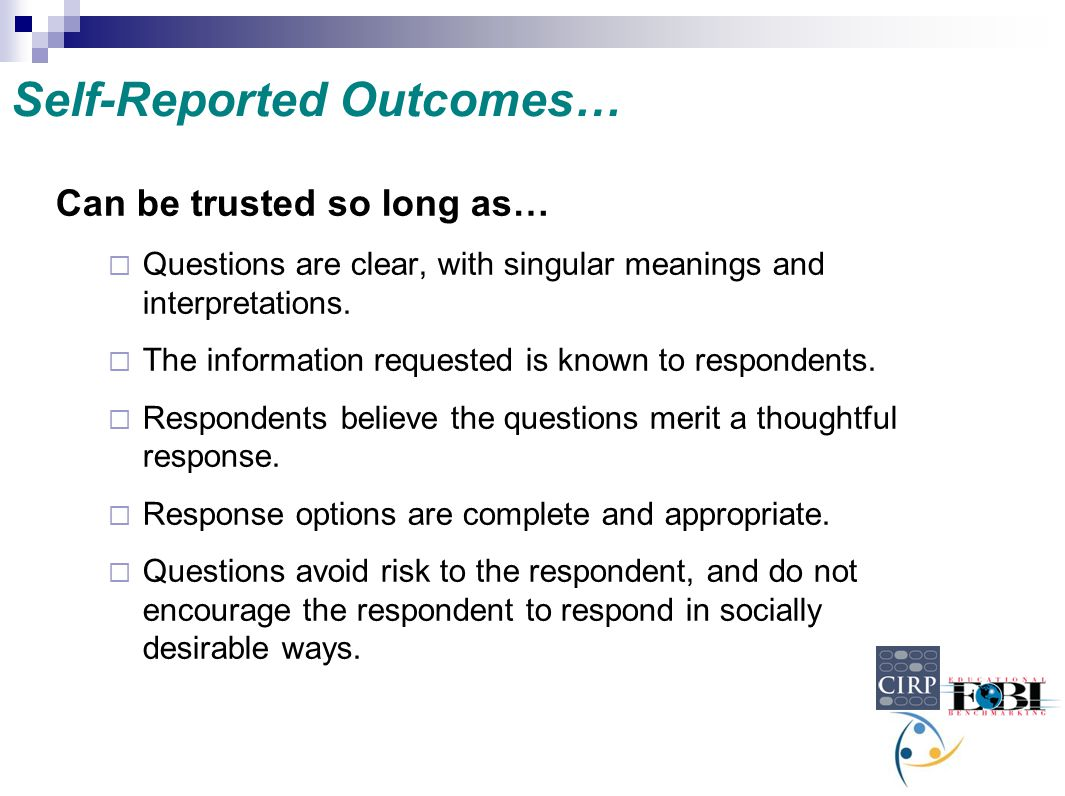 Self-Reported Outcomes…