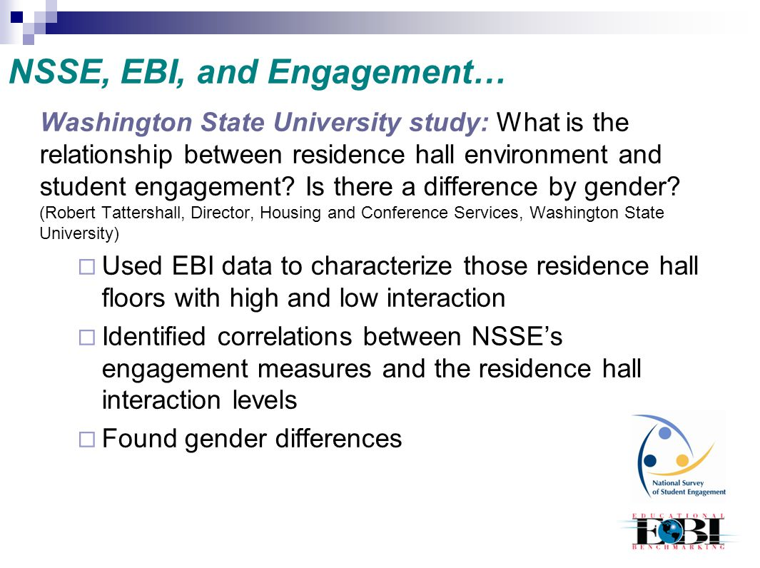 NSSE, EBI, and Engagement…