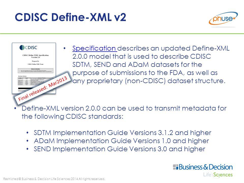 CDISC Define-XML v2