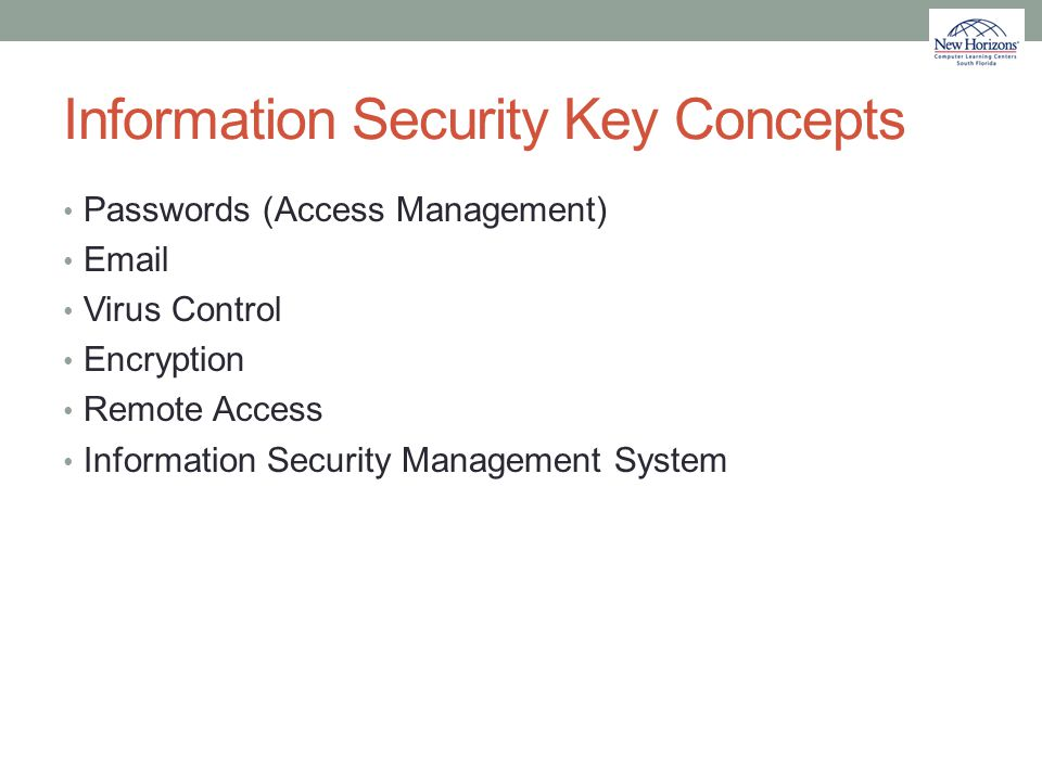 Information Security Key Concepts