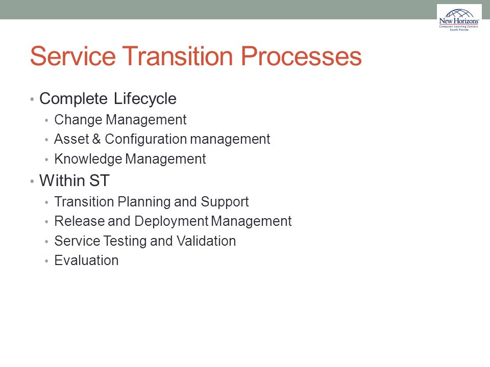 Service Transition Processes