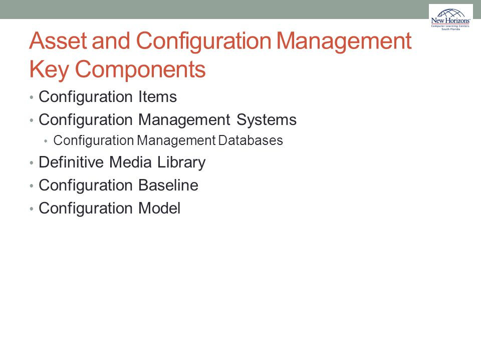 Asset and Configuration Management Key Components