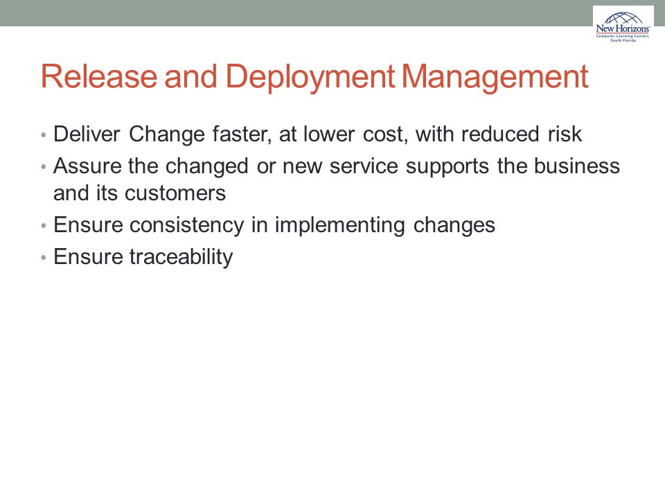 Release and Deployment Management