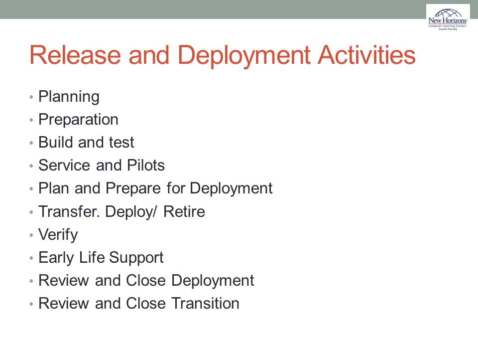 Release and Deployment Activities