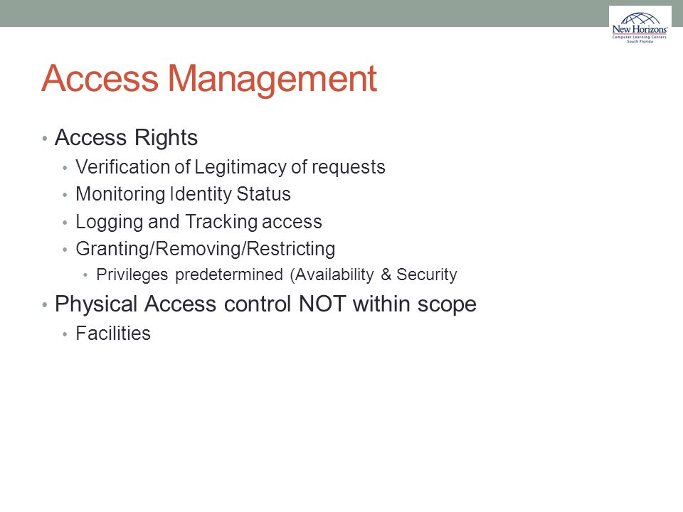 Access Management Access Rights