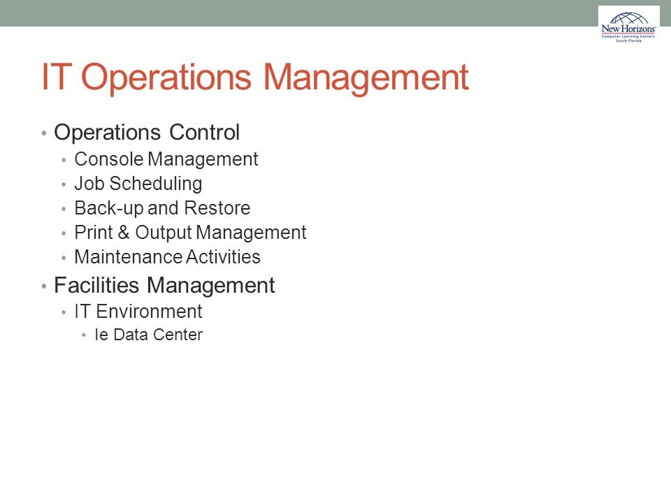 IT Operations Management