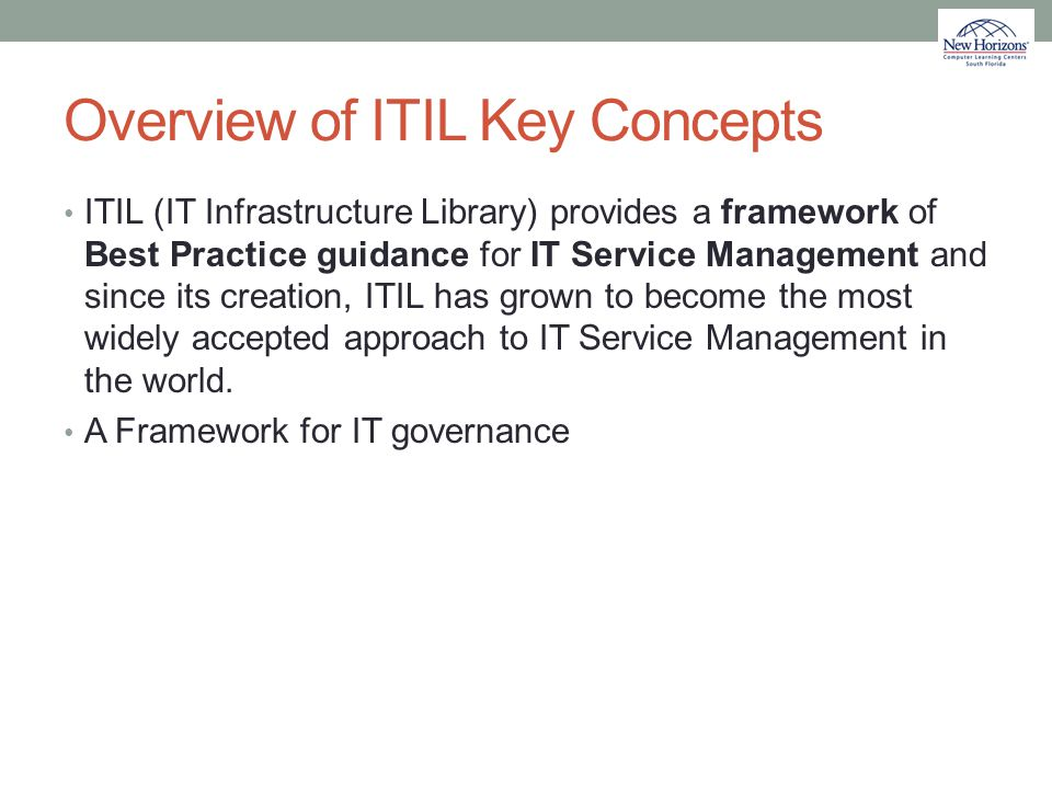 Overview of ITIL Key Concepts