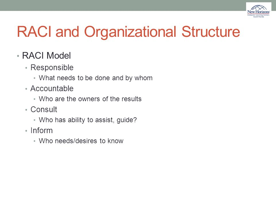 RACI and Organizational Structure