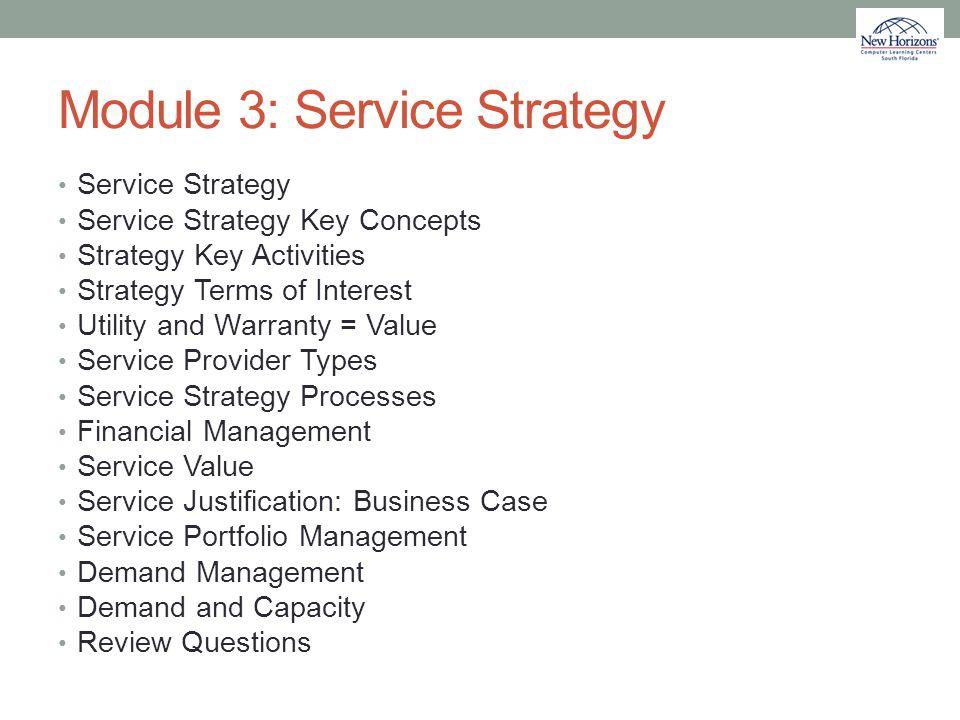 Module 3: Service Strategy