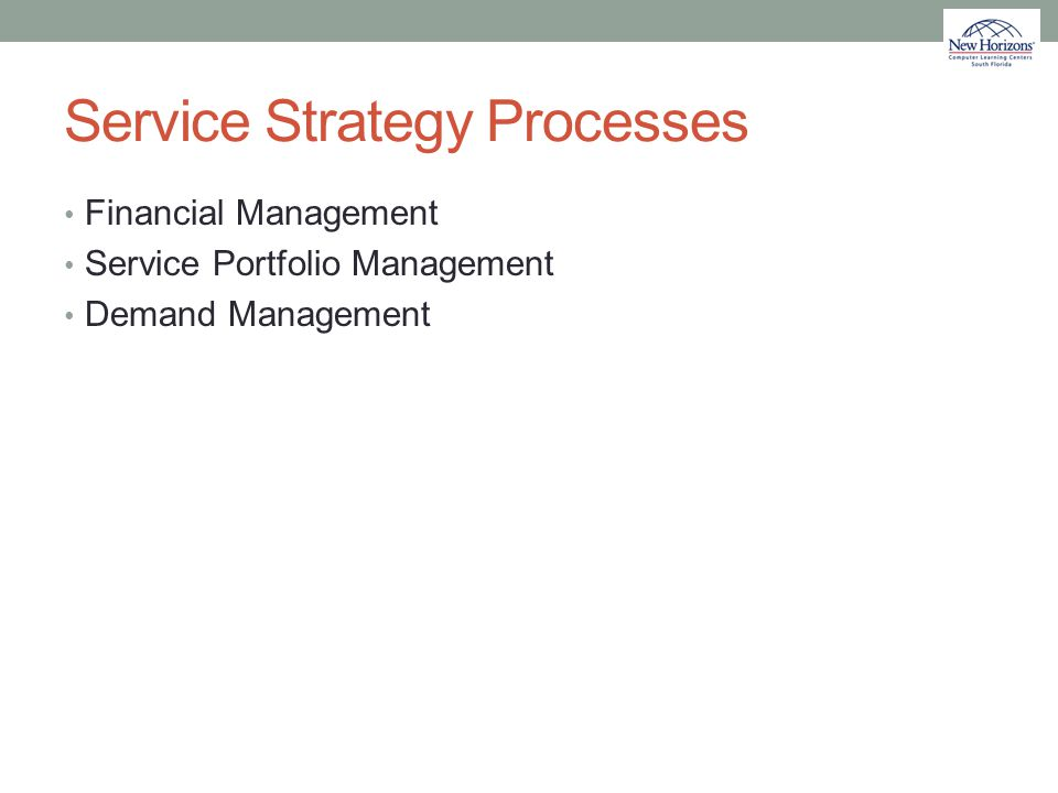 Service Strategy Processes