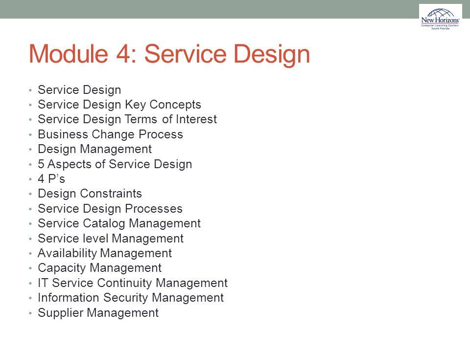 Module 4: Service Design