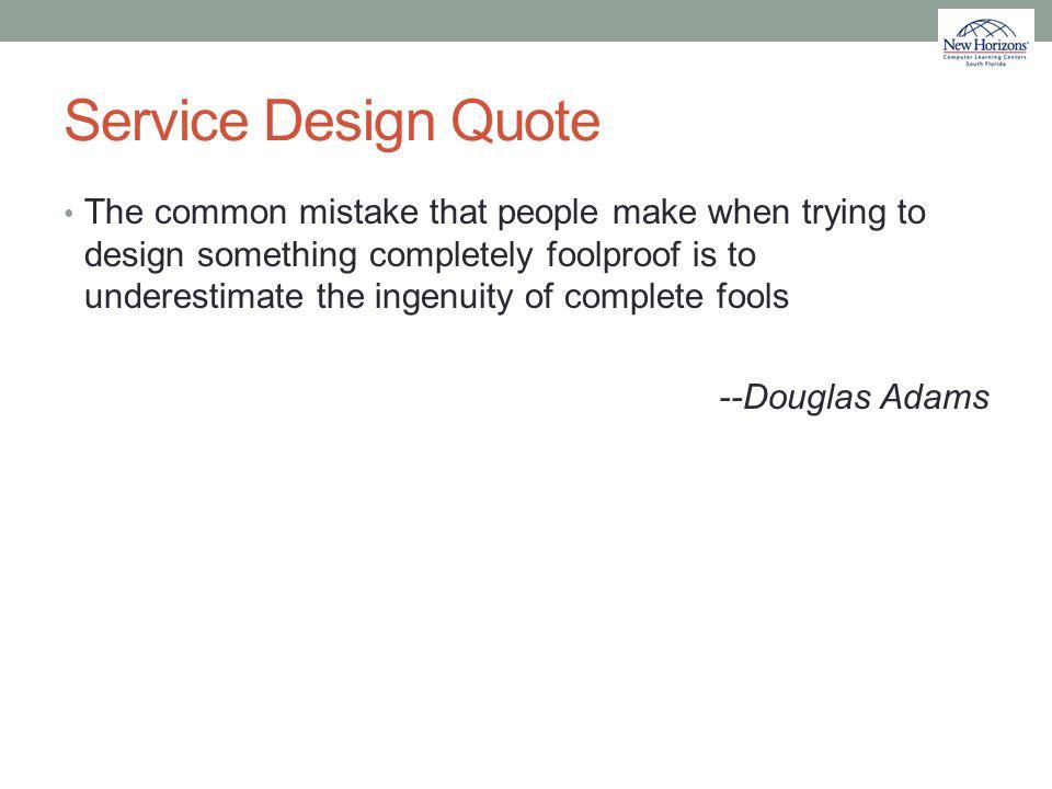 Service Design Quote