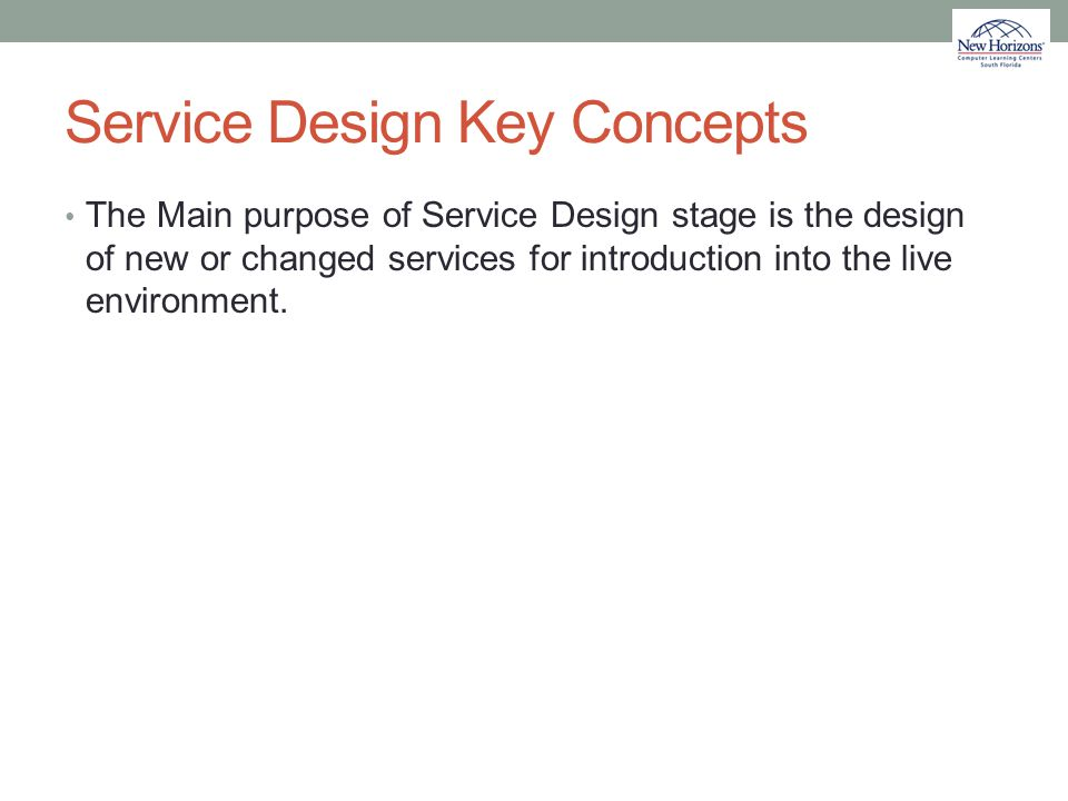 Service Design Key Concepts