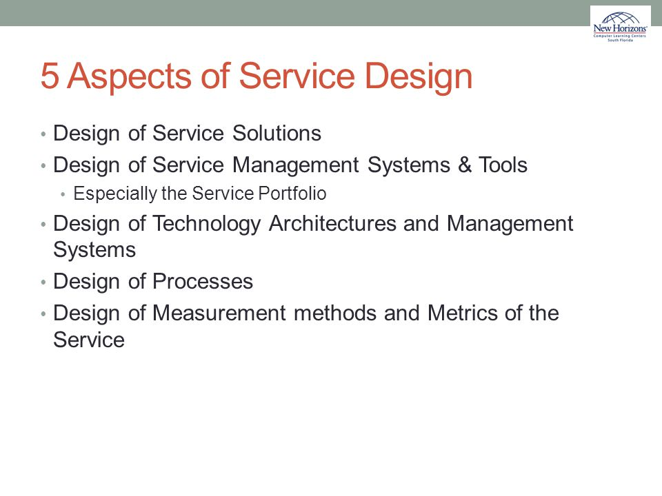5 Aspects of Service Design