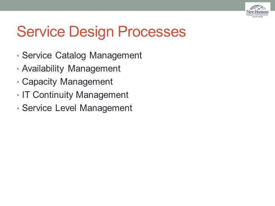 Service Design Processes