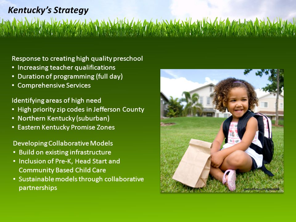Kentucky's Strategy Response to creating high quality preschool