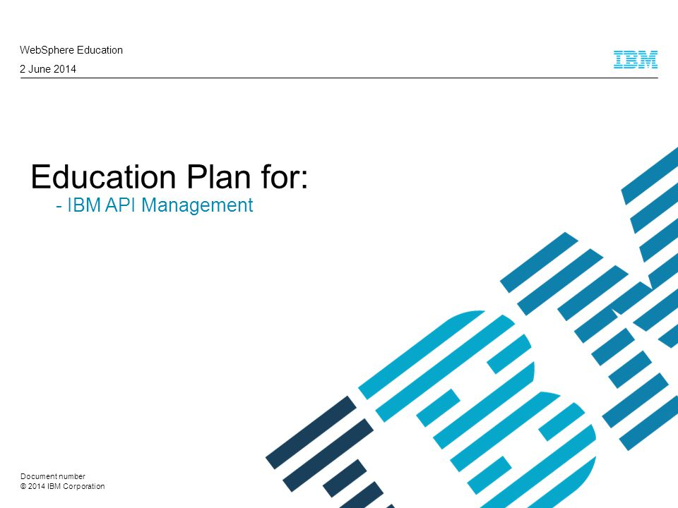 Education Plan for: - IBM API Management