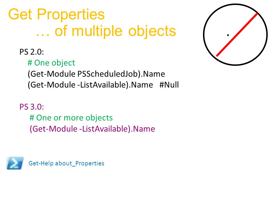 Get Properties … of multiple objects